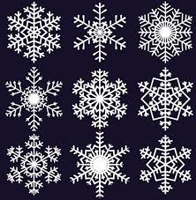 Free Eps File Different Snowflake Pattern Mix Vector Graphics 04
