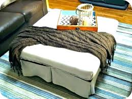 cream colored coffee table leather storage ottoman tables suede bench large living chair and l coloured
