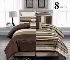 legacy decor 8pc reversible luxury comforter bed in bag bedding set
