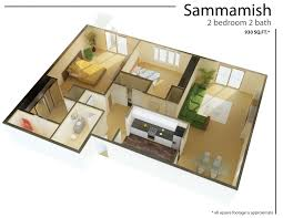 Tiny Studio Apartment Layout On Contemporary Open Concept Studio - Rental apartment one bedroom apartment open floor plans