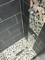 pebble stone shower floor best pebble tile shower ideas on tiles in floor idea diy pebble stone shower floor