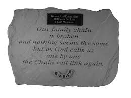 the broken chain verse personalized memorial garden stone