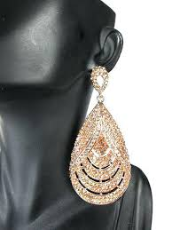 big gold dangle earrings get ations a fashion rose gold crystal tear dangle large chandelier bridal