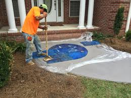 stamping lawnworks 12 stamped concrete overlay89