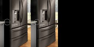 What Is The Depth Of A Counter Depth Refrigerator Lg Counter Depth Refrigerators With Large Capacity Lg Usa