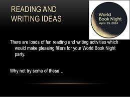 world book night reading and writing party ideas reading and writing ideas there are loads of fun reading and writing activities which would make judge a book