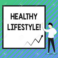 Healthy Living Chart Conceptual Hand Writing Showing Healthy Lifestyle Concept Meaning