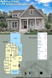 plan hz narrow 4 bed country cottage with carport in back 2 family house plans
