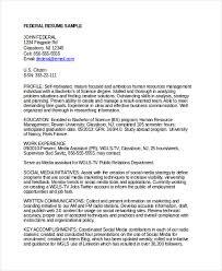 Federal Resume Format Pelosleclaire Com