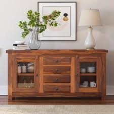 fremont rustic solid wood glass door 4 drawer sideboard outstanding rustic country rustic baby room