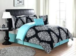 cheep teen bedding teenage girl bedding black turquoise teal blue comforter set elegant scroll teen girl
