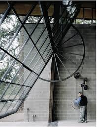 above washington dc architect jeffery broadhurst s s at hinkle farm features a garage door opening