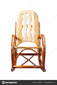 wooden rocking chair. Wooden Rocking Chair Isolated On White Background, Front View \u2014 Stock Photo #