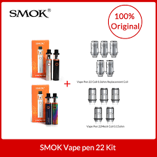 Smok Coil Chart Original Smok Vape Pen 22 Kit With Built In 1650mah Battery