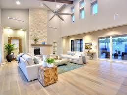 Minimalist Light Hardwood Floors for Modern Home Construction