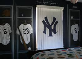 new york ny yankees locker room wall mural nursery jersies