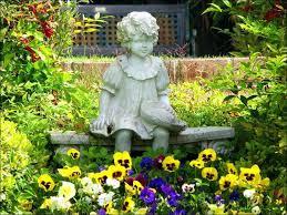 outdoor garden statues. Landscape Statues Concrete Garden Of Children Add Interest To A Yard Deck . Outdoor E