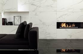 anima digital porcelain white marble fireplace surround
