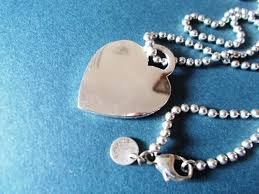 tiffany co return to tiffany heart tag n 72464 pendant with necklace silver 925 extra large 88 cm