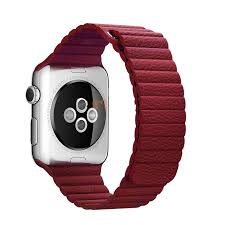 apple watch series 1 42mm genuine leather band strap red cellphonecases com