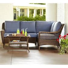 Hampton Bay Spring Haven Brown 5 Piece All Weather Wicker Patio