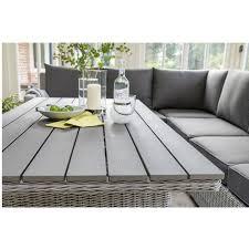 whitewash outdoor furniture. Kettler Palma LH Corner Set Whitewash Incl. Slat Table - Image 2 Outdoor Furniture