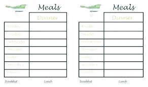 Printable Weekly Dinner Menu Menu Planner Template Printable Dinner Menu Planner Template