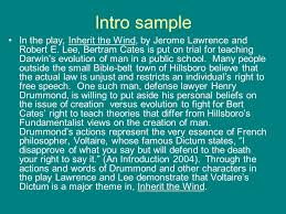 the essay in a nutshell how to make it better ppt video online 6 intro sample in the play inherit the wind