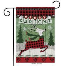 christmas garden flag. Interesting Christmas Merry U0026 Bright Reindeer Christmas Garden Flag Primitive Holiday 125 To