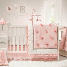 baby girl crib bedding set nursery decor pink white 4 piece special sweet dream