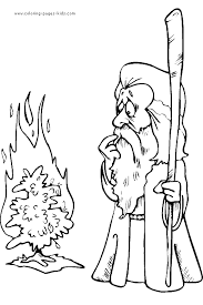 Small Picture Moses with Burning Bush Coloring Page bible class Pinterest
