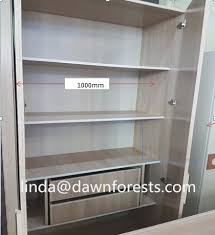 Adjustable Partition Color Matching Wooden Wardrobe For