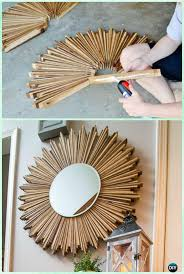 diy sned wood shim starburst mirror instruction diy decorative mirror frame ideas and projects