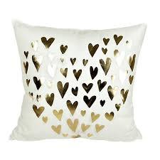 decorative accent pillows. Modren Pillows Gold Foil Heart Throw Pillow Cover Decorative Accent Pillows 18 X Inch Inside A