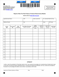 att affidavit form form att 67 fillable report of non tax paid tobacco products