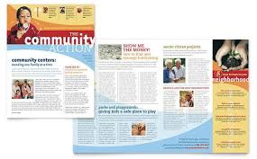 Non Profit Brochure Templates Free Community Non Profit Newsletter Design Template By
