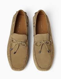 more views zara man embossed leather driving shoes