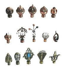 wood curtain rod finials rods and for decorative australia