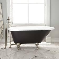 Miya Cast Iron Clawfoot Tub Ball  Claw Feet Black Cast - Clawfoot tub bathroom
