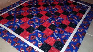 "Amazing"" Spiderman Quilt | Rebecca Smallwood & spiderman Adamdwight.com"