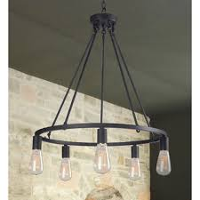 rustic chandelier lighting round light fixture modern farmhouse pendant lamp 24
