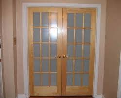 interior french doors with glass and frosted