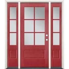 3 4 lite doors with glass fiberglass doors the home depot 3 4 lite entry door