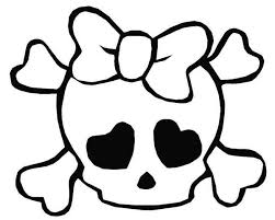 Small Picture Girly Love Skull Coloring Page Girly Love Skull Coloring Page