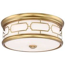 3 light liberty gold flushmount