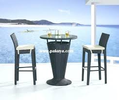 Outdoor Bar Height Dining Table And Chairs ZOIY  Cnxconsortium Outdoor Wicker Bar Furniture