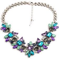 LUFA Fashion Flower Geometric Metal Alloy Women Collarbone Short Necklace  Jewelry Colorfulu002645*5cm