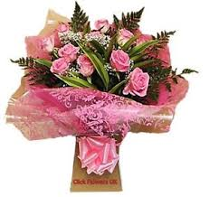 image is loading fresh real flowers delivered pink rose bouquet free