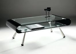 coffee table perfect modern storage black glass with chrome legs round