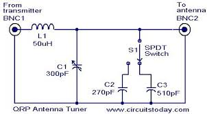 results page about circuit diagram of radio frequency qrp antenna tuner circuit